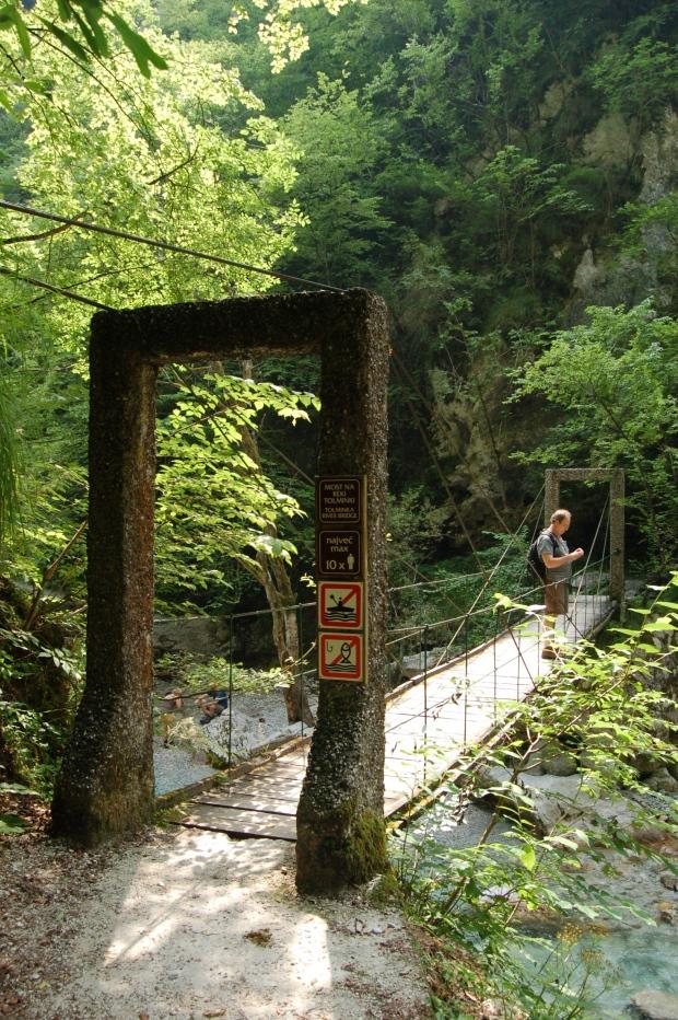 Gorge bridge, Tolmin, Slovenia