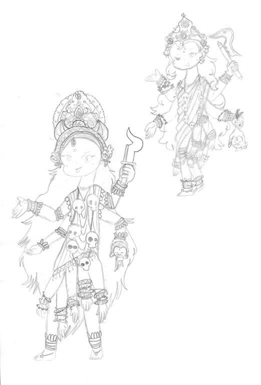 Teresa's Kali drawings copy