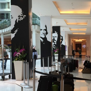 Presidents, lobby of the AWP conference hotel